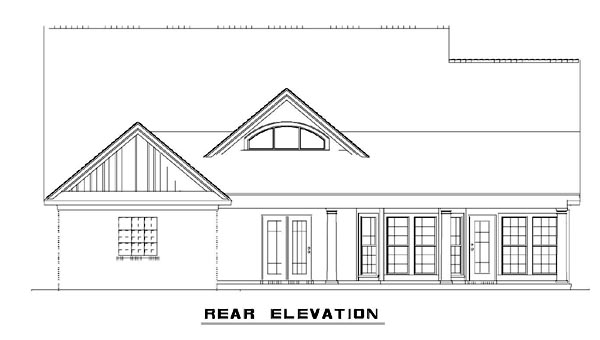 House Plan 62392 Rear Elevation