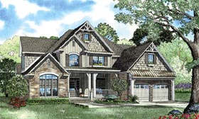Craftsman European Tudor House Plan 62393 Elevation