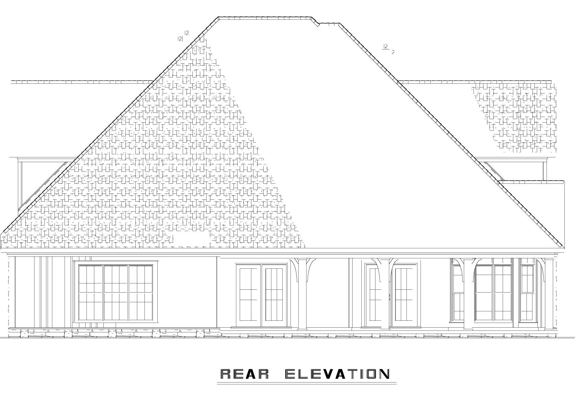 House Plan 62395 Rear Elevation