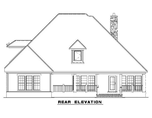 House Plan 62396 Rear Elevation