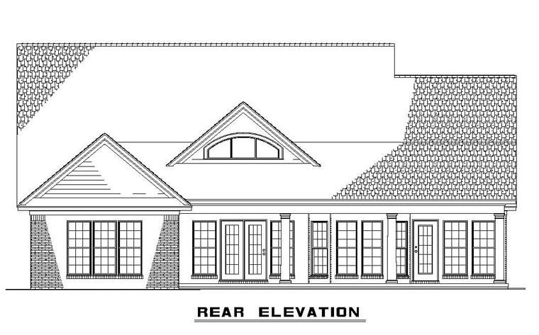 House Plan 62397 Rear Elevation