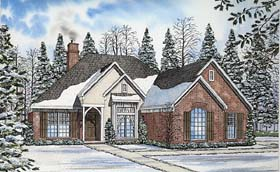 European Traditional House Plan 62399 Elevation
