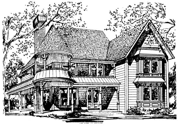 House Plan 62409 | Victorian Style Plan with 2203 Sq Ft, 3 Bedrooms, 3 Bathrooms Elevation