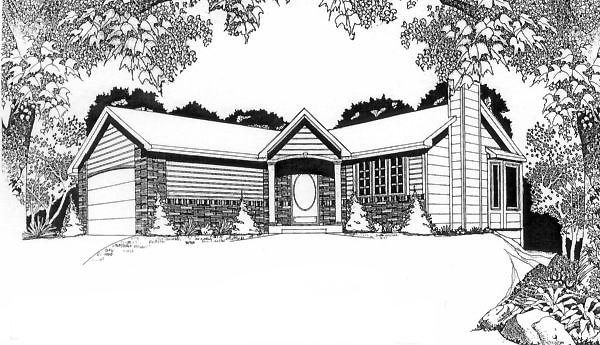 Traditional House Plan 62509 Elevation