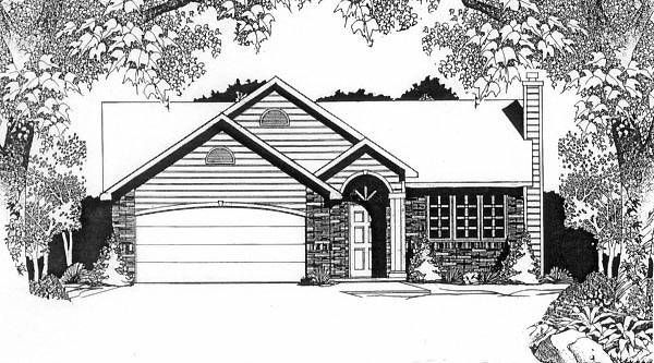 Traditional House Plan 62513 Elevation