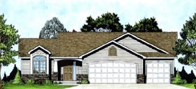 Traditional House Plan 62516 with 2 Beds, 2 Baths, 2 Car Garage Elevation