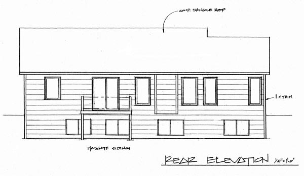 Traditional House Plan 62516 Rear Elevation