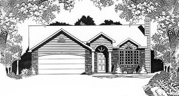 Traditional House Plan 62524 Elevation