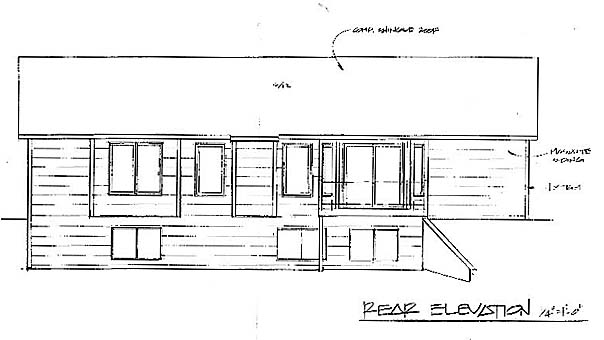 Traditional House Plan 62526 Rear Elevation