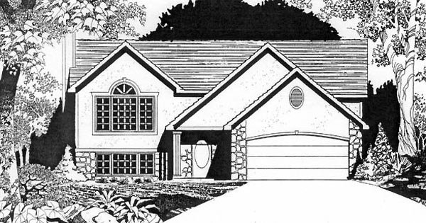One-Story, Traditional House Plan 62530 with 2 Beds, 2 Baths, 2 Car Garage Elevation
