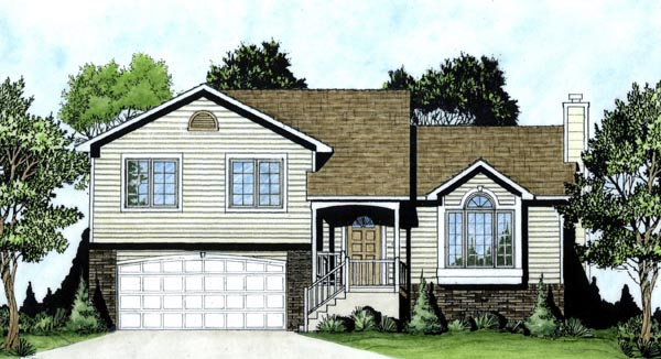 European House Plan 62534 Elevation