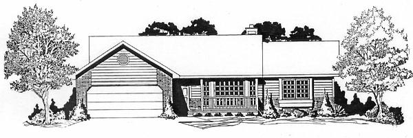 Ranch House Plan 62536 Elevation