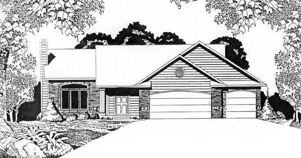 Ranch House Plan 62538 Elevation