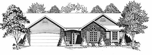 Traditional Elevation of Plan 62539