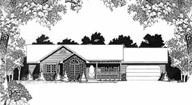 Ranch House Plan 62541 Elevation