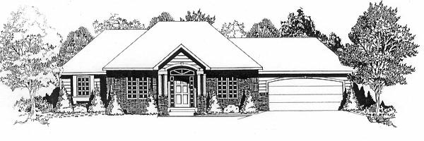 Traditional House Plan 62545 Elevation