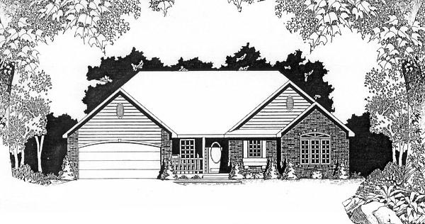 Traditional House Plan 62548 Elevation