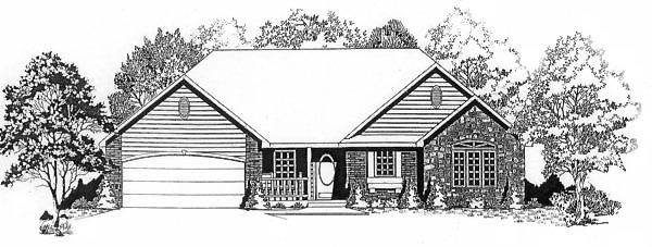 Traditional House Plan 62553 Elevation