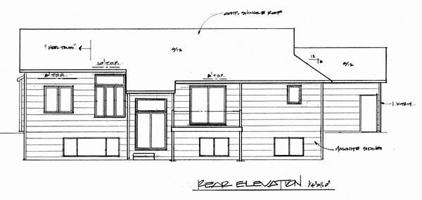 European House Plan 62554 Rear Elevation