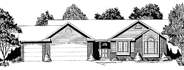 Traditional House Plan 62555 Elevation