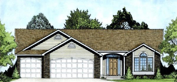 Traditional House Plan 62556 Elevation