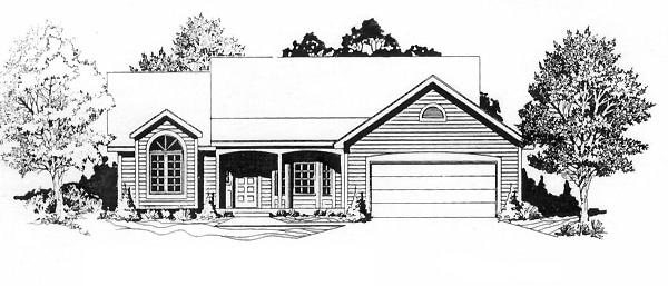 Ranch House Plan 62558 Elevation