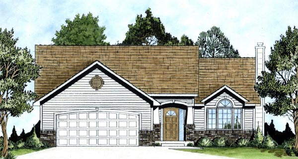 Traditional House Plan 62560 Elevation