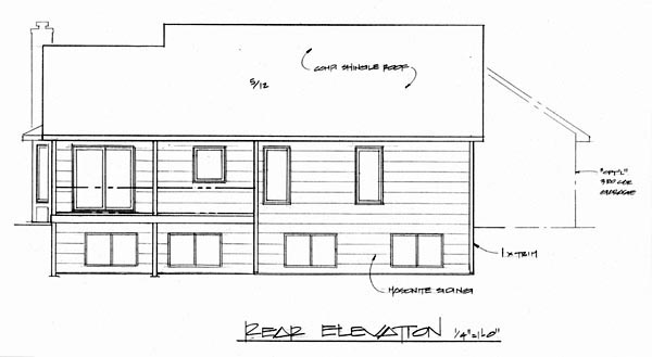 Traditional House Plan 62560 Rear Elevation