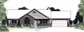 House Plan 62562 | Ranch Style Plan with 1410 Sq Ft, 3 Bedrooms, 2 Bathrooms, 2 Car Garage Elevation