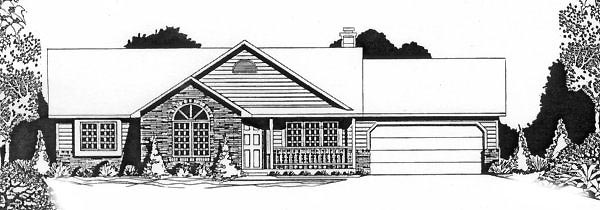 Ranch House Plan 62562 Elevation
