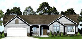 Ranch House Plan 62563 Elevation