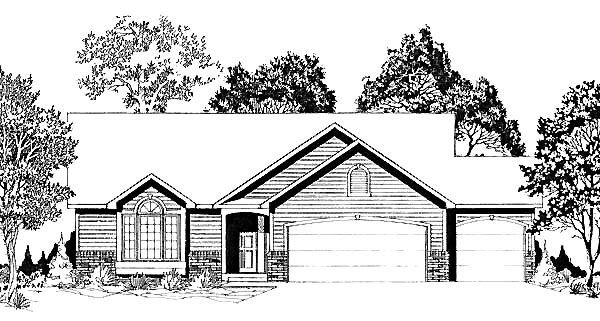 Traditional House Plan 62564 Elevation