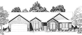 Traditional House Plan 62567 Elevation