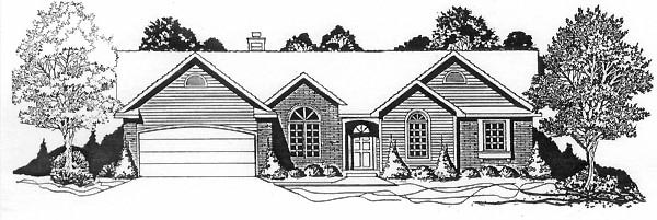 Traditional House Plan 62570 Elevation