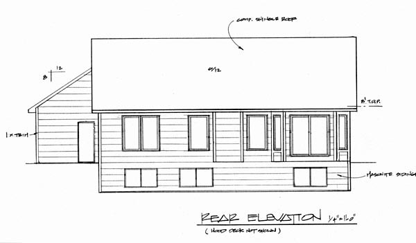 Tudor House Plan 62571 Rear Elevation