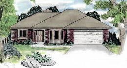 House Plan 62572 | Traditional Style Plan with 1462 Sq Ft, 3 Bedrooms, 2 Bathrooms, 2 Car Garage Elevation