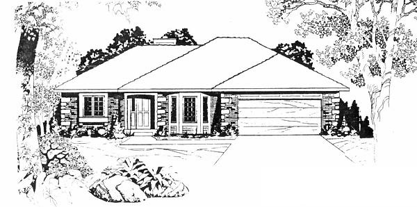 Traditional House Plan 62572 Elevation