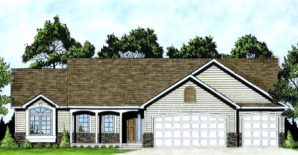 Country House Plan 62574 Elevation