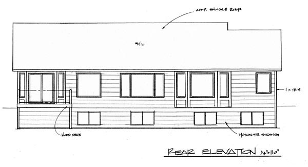 Country House Plan 62574 Rear Elevation