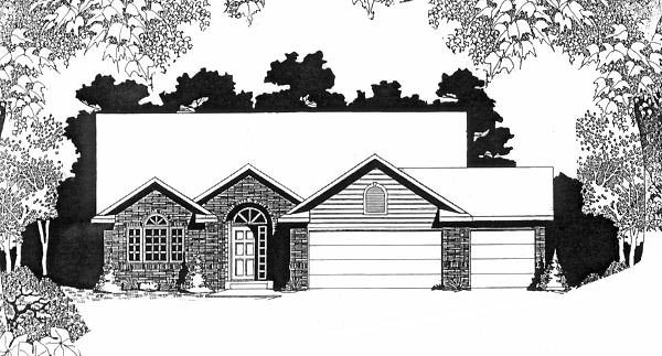Traditional House Plan 62575 Elevation