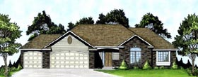 Traditional House Plan 62580 Elevation