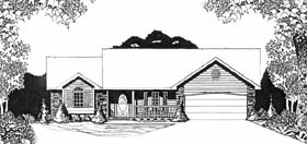 Ranch House Plan 62582 Elevation