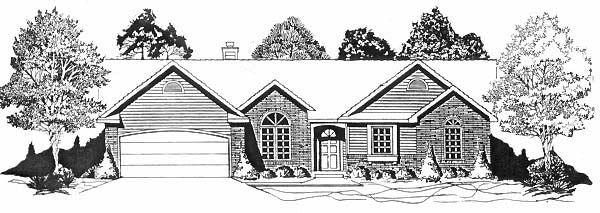 Ranch House Plan 62583 Elevation