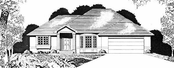 Traditional House Plan 62584 Elevation