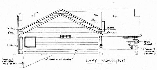 One-Story, Traditional House Plan 62585 with 3 Beds, 2 Baths, 3 Car Garage Picture 1