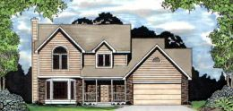 Traditional House Plan 62587 with 3 Beds, 2 Baths, 2 Car Garage Elevation