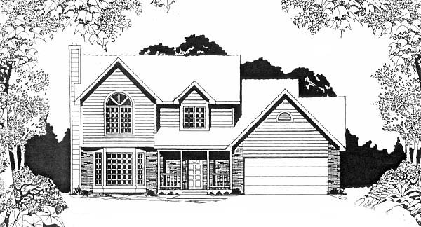 Traditional House Plan 62587 Elevation