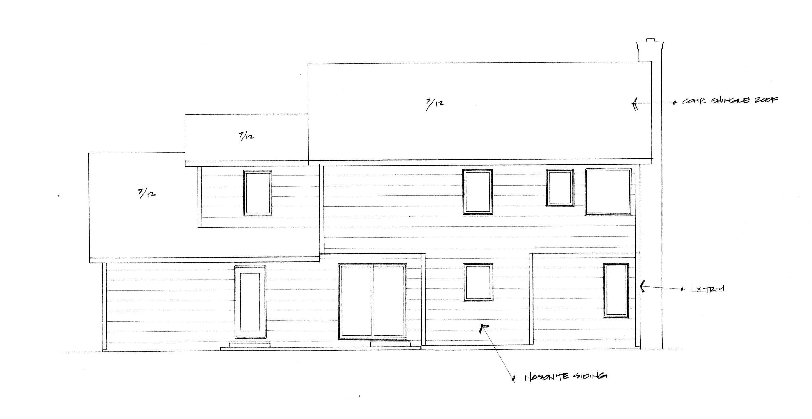 Traditional Rear Elevation of Plan 62587