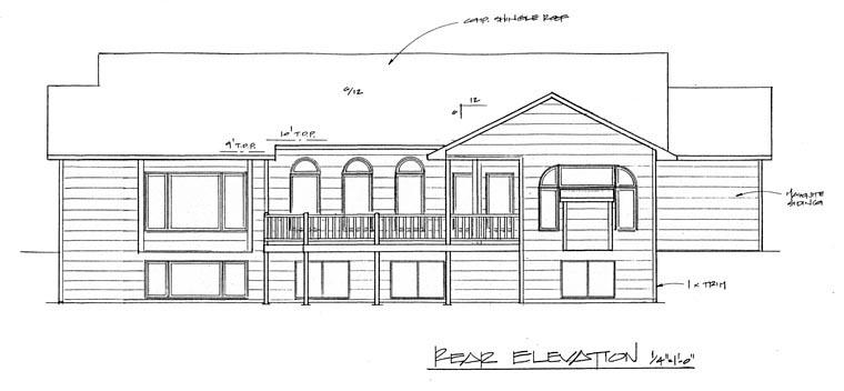 European House Plan 62588 Rear Elevation