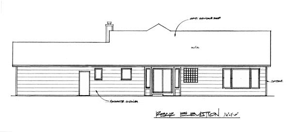 Country House Plan 62589 Rear Elevation